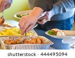 close up of food in a self... | Shutterstock . vector #444495094