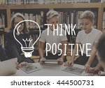 think positive ideas graphic...