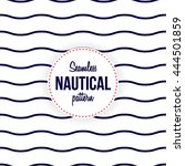 seamless nautical waves pattern