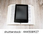 old book and modern one  bleach ... | Shutterstock . vector #444508927