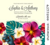 wedding invitation with... | Shutterstock .eps vector #444511279