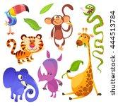 cartoon tropical animal...   Shutterstock .eps vector #444513784