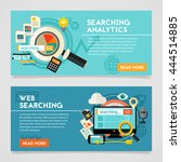 searching analytics concept... | Shutterstock .eps vector #444514885