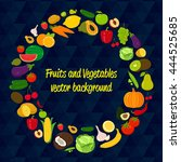 vegetable circle background....   Shutterstock .eps vector #444525685