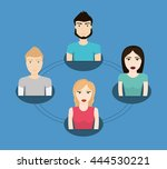 people concept with icon design ... | Shutterstock .eps vector #444530221