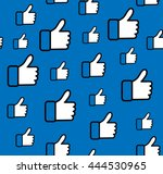 pattern blue button hand like... | Shutterstock .eps vector #444530965
