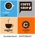 coffee decoration collection  ... | Shutterstock .eps vector #444538669