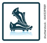 icon of football boots. shadow... | Shutterstock .eps vector #444539989