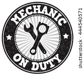 mechanic on duty grunge rubber...   Shutterstock .eps vector #444540571