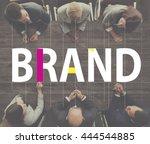 brand branding copyright label... | Shutterstock . vector #444544885