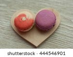 served  colorful macaroons... | Shutterstock . vector #444546901