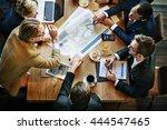 team meeting brainstorming... | Shutterstock . vector #444547465