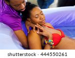 a beautiful african american... | Shutterstock . vector #444550261