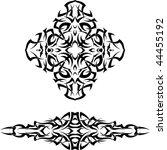 vector tribal tattoo set | Shutterstock .eps vector #44455192