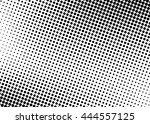 grunge halftone dotted... | Shutterstock .eps vector #444557125