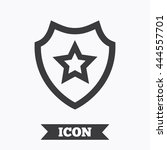 shield with star icon. favorite ... | Shutterstock .eps vector #444557701