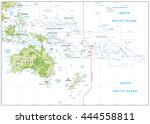 relief map of oceania isolated... | Shutterstock .eps vector #444558811