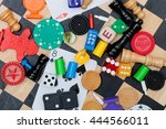 miscellaneous board game pieces ... | Shutterstock . vector #444566011