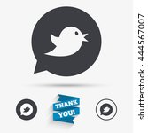 bird icon. social media sign.... | Shutterstock .eps vector #444567007