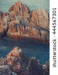 ocean rock crag beach coast... | Shutterstock . vector #444567301