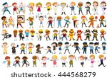 different character of many... | Shutterstock .eps vector #444568279