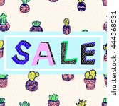 sale of abstract characters and ... | Shutterstock .eps vector #444568531