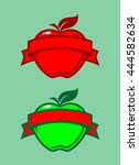 apples with banners | Shutterstock .eps vector #444582634