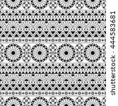black and white seamless... | Shutterstock .eps vector #444583681