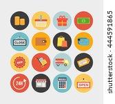set of flat shopping icons....