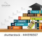 education infographic template... | Shutterstock . vector #444598507