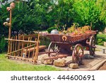 Old Wooden Rustic Wagon Stands...