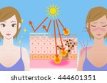 uv care before after image ... | Shutterstock .eps vector #444601351