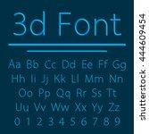 volumetric font 3d line letter... | Shutterstock .eps vector #444609454