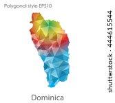 dominica map in geometric... | Shutterstock .eps vector #444615544