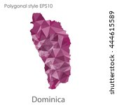 dominica map in geometric... | Shutterstock .eps vector #444615589