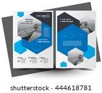flyer brochure design  business ... | Shutterstock .eps vector #444618781