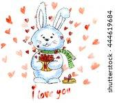 watercolor illustration. hand... | Shutterstock . vector #444619684