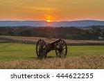 Sun Rising Behind Artillery...