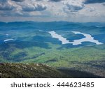 Small photo of Panaroma of Adirondack Mountains as seen from Whiteface Mountain