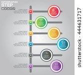 timeline infographics design...   Shutterstock .eps vector #444631717