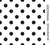 abstract monochrome geometric... | Shutterstock .eps vector #444632305