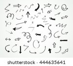 hand drawn arrows.set of... | Shutterstock .eps vector #444635641
