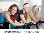 fitness practice  group of... | Shutterstock . vector #444642739