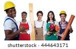 happy african american...   Shutterstock . vector #444643171