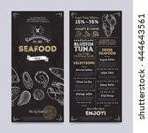 seafood restaurant menu design... | Shutterstock .eps vector #444643561