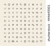 vector ui illustration mixed... | Shutterstock .eps vector #444645001