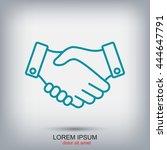 line icon   handshake | Shutterstock .eps vector #444647791