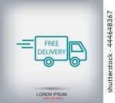 line icon  delivery is free | Shutterstock .eps vector #444648367