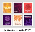 vector illustration collection... | Shutterstock .eps vector #444650509