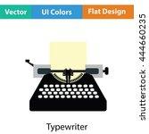 typewriter icon. flat color...